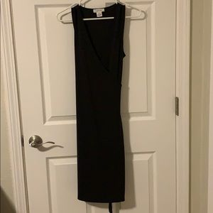 Brown Calvin Klein wrap sleeveless dress